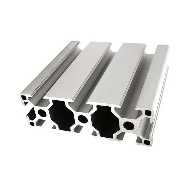 T slotted industrial extruded rectangle anodized aluminum extrusion profile black sandblasting LE-8-3090